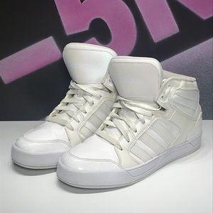 Adidas Neo Raleigh Mids, shimmer metallic white